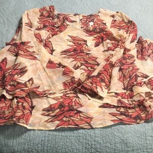 Beautiful Red Butterfly tunic